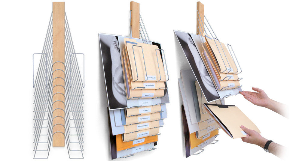 The most flexible wall filing system ever designed.  Up Filer by Westerville Design