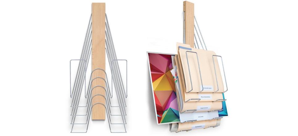 The Up Filer vertical wall file is is the most flexible vertical file ever designed.
