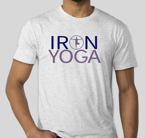 Iron Yoga Men's T-Shirt (white)