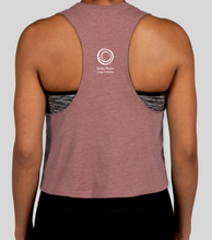 Load image into Gallery viewer, Racerback Crop Tank (mauve)
