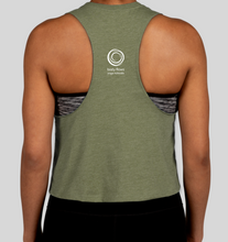 Load image into Gallery viewer, Racerback Crop Tank (olive)