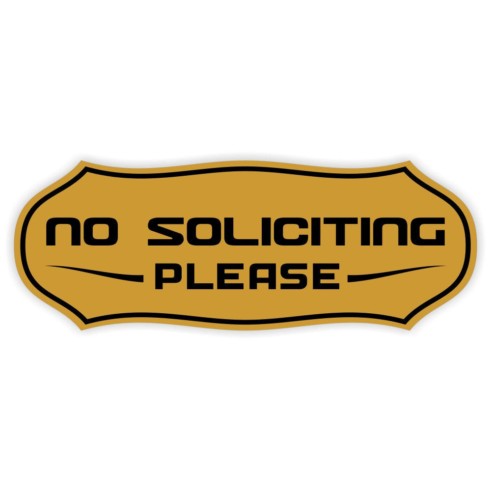 Stylish No Soliciting Sign