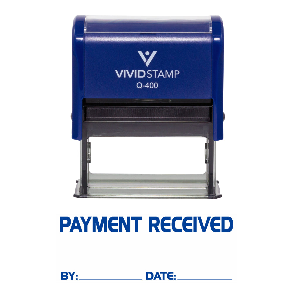 Payment Received By Date Self Inking Rubber Stamp