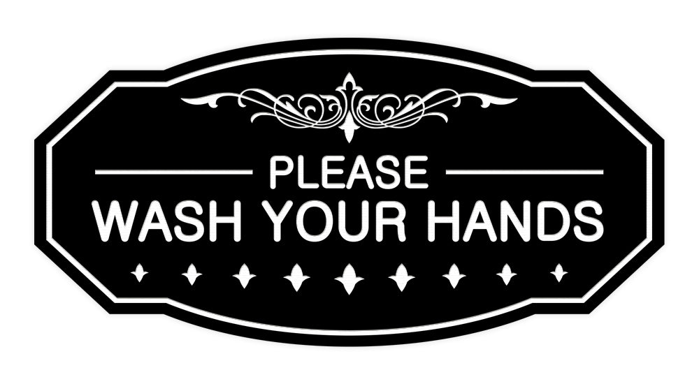 Victorian Please Wash Your Hands Sign