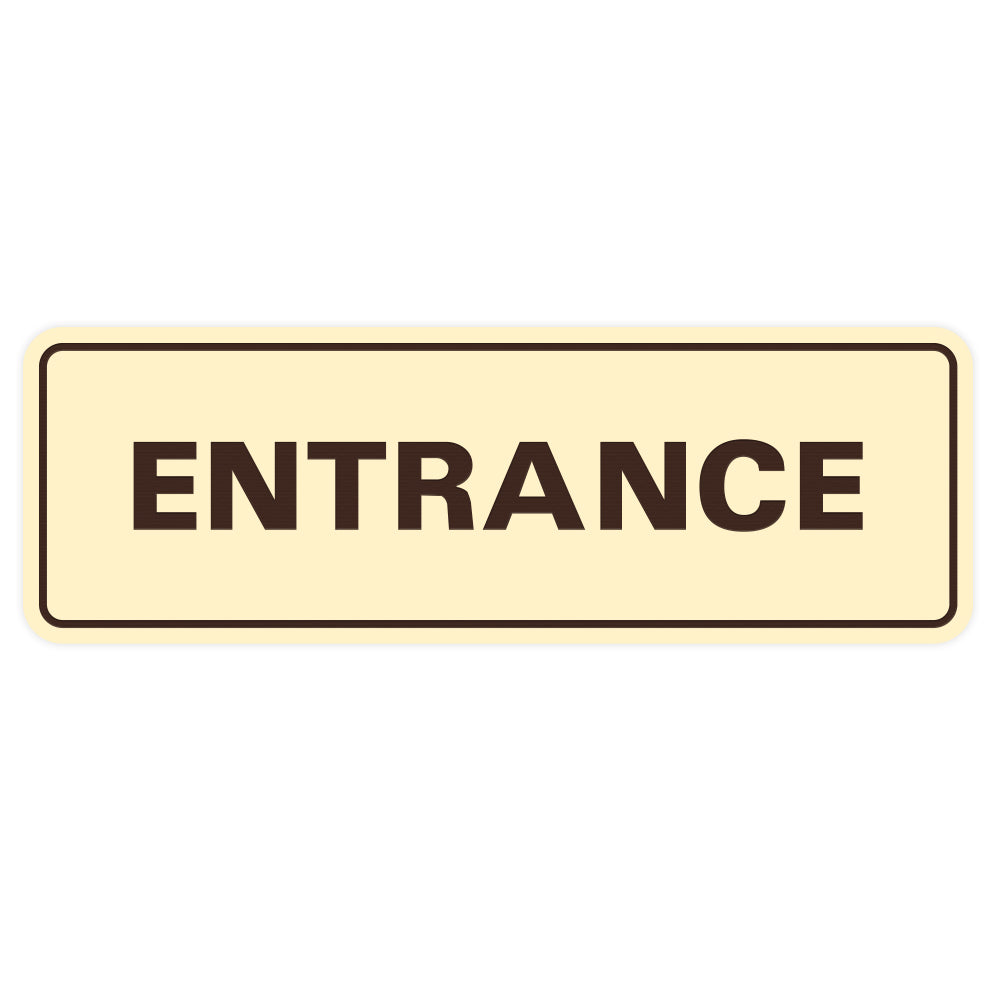 Basic ENTRANCE Door / Wall Sign