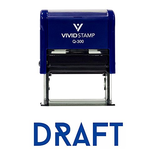 Draft Office Self-Inking Office Rubber Stamp