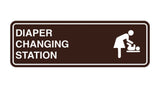 Dark Brown Signs ByLITA Standard Diapers Changing Station Sign
