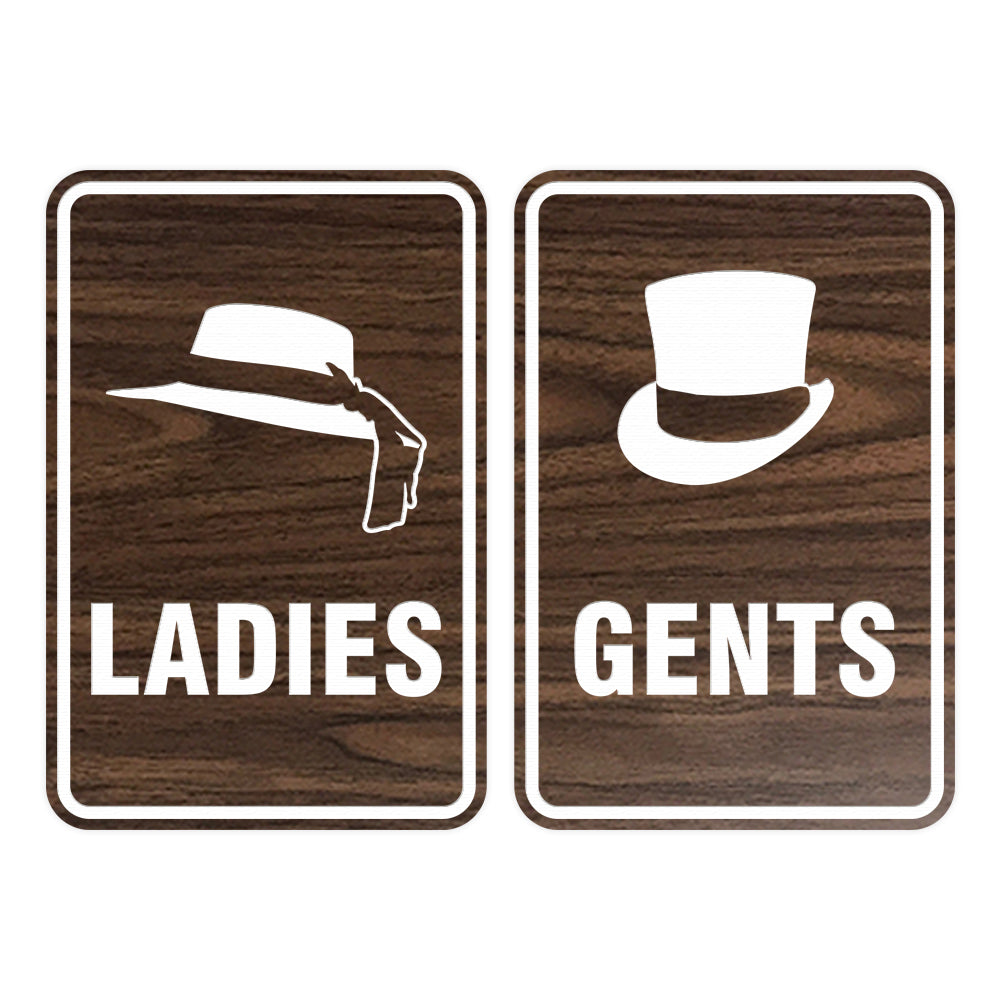 Portrait Round Ladies And Gents Sign Set