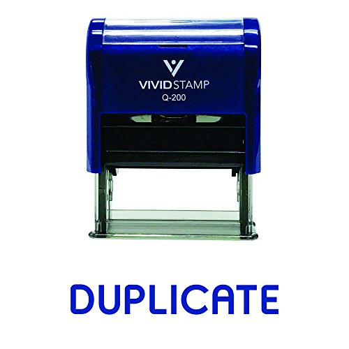 Duplicate Self-Inking Office Rubber Stamp
