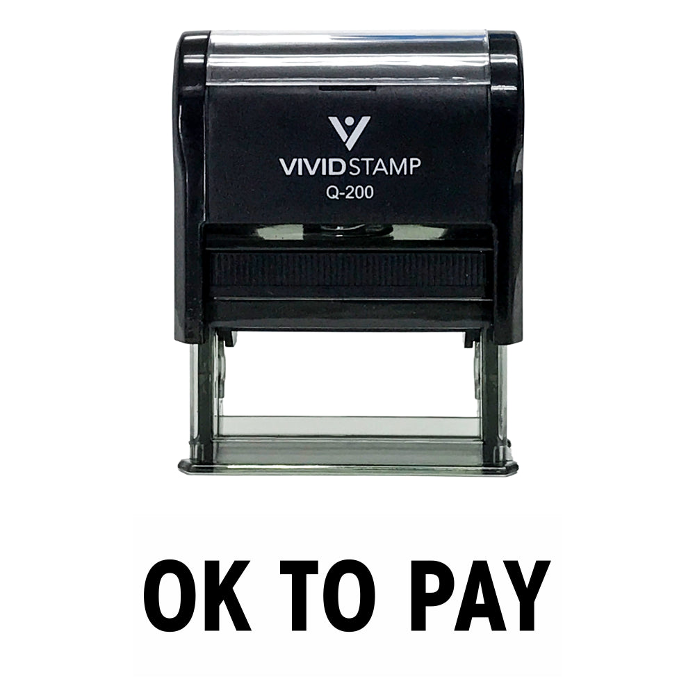 Ok To Pay Self Inking Rubber Stamp