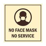 Signs ByLITA Square No Face Mask No Service Sign