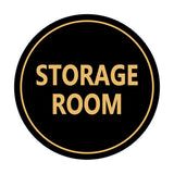 Black / Gold Signs ByLITA Circle Storage Room Sign
