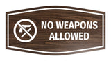 Fancy No Weapons Allowed Sign