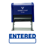 Basic Entered Self Inking Rubber Stamp