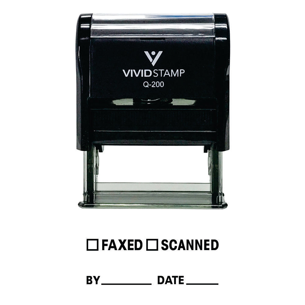 Faxed Scanned By Date Self Inking Rubber Stamp