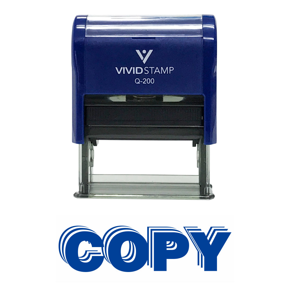 Copy Self Inking Rubber Stamp - Copy Stacked Design