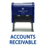 Accounts Receivable Self Inking Rubber Stamp