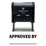 Approved By Self Inking Rubber Stamp