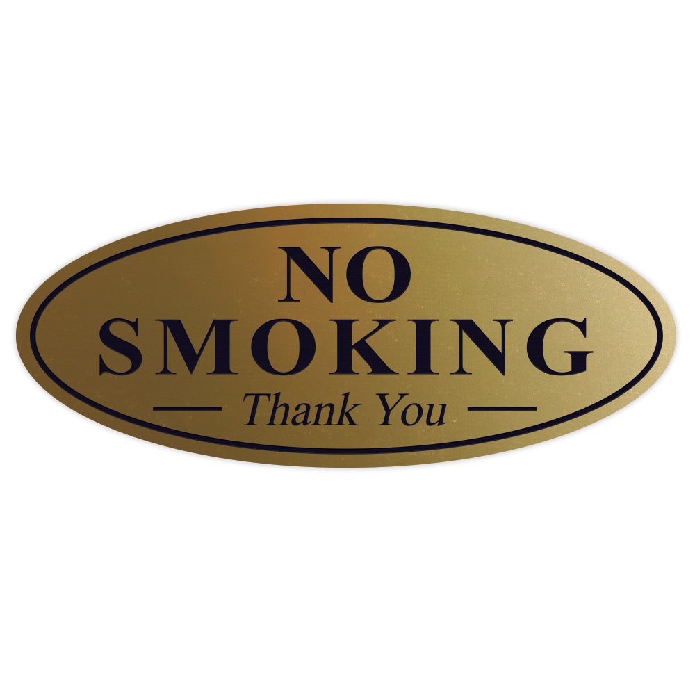 Oval NO SMOKING Thank You Sign