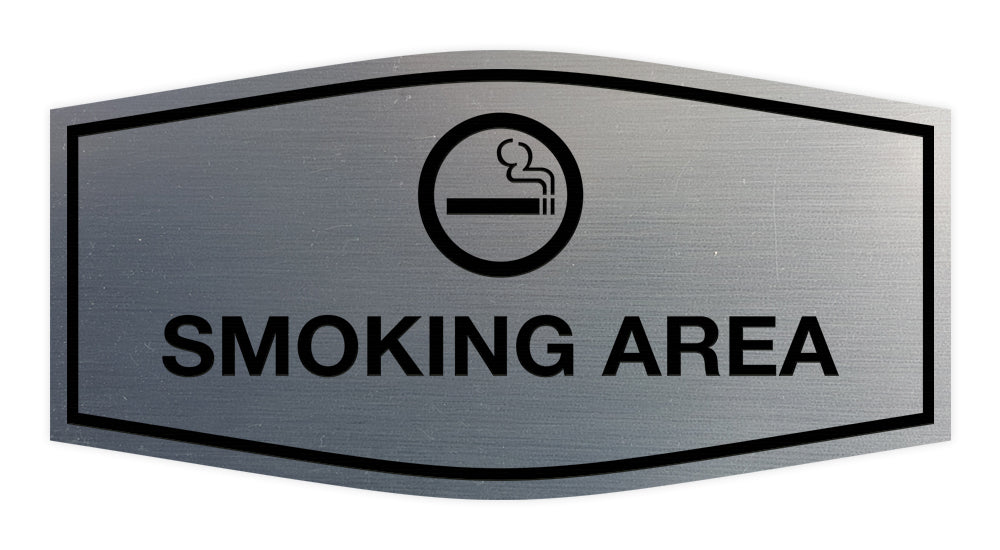 Signs ByLITA Fancy Smoking Area Sign