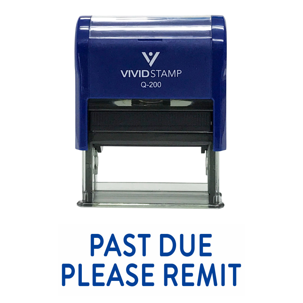 Past Due Please Remit Self Inking Rubber Stamp