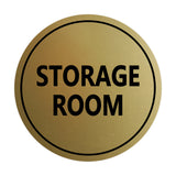 Brushed Gold / Black Signs ByLITA Circle Storage Room Sign