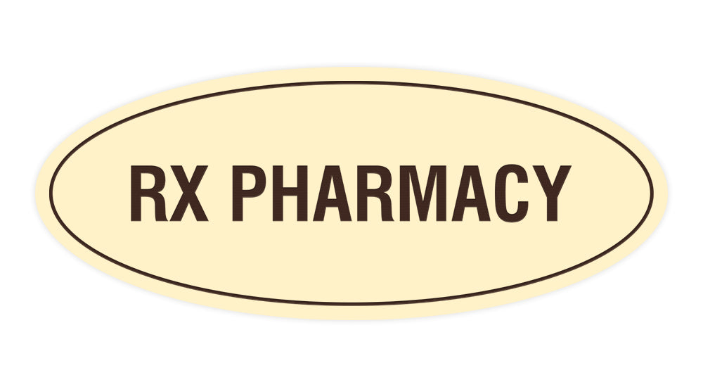 Signs ByLITA Oval RX Pharmacy Sign