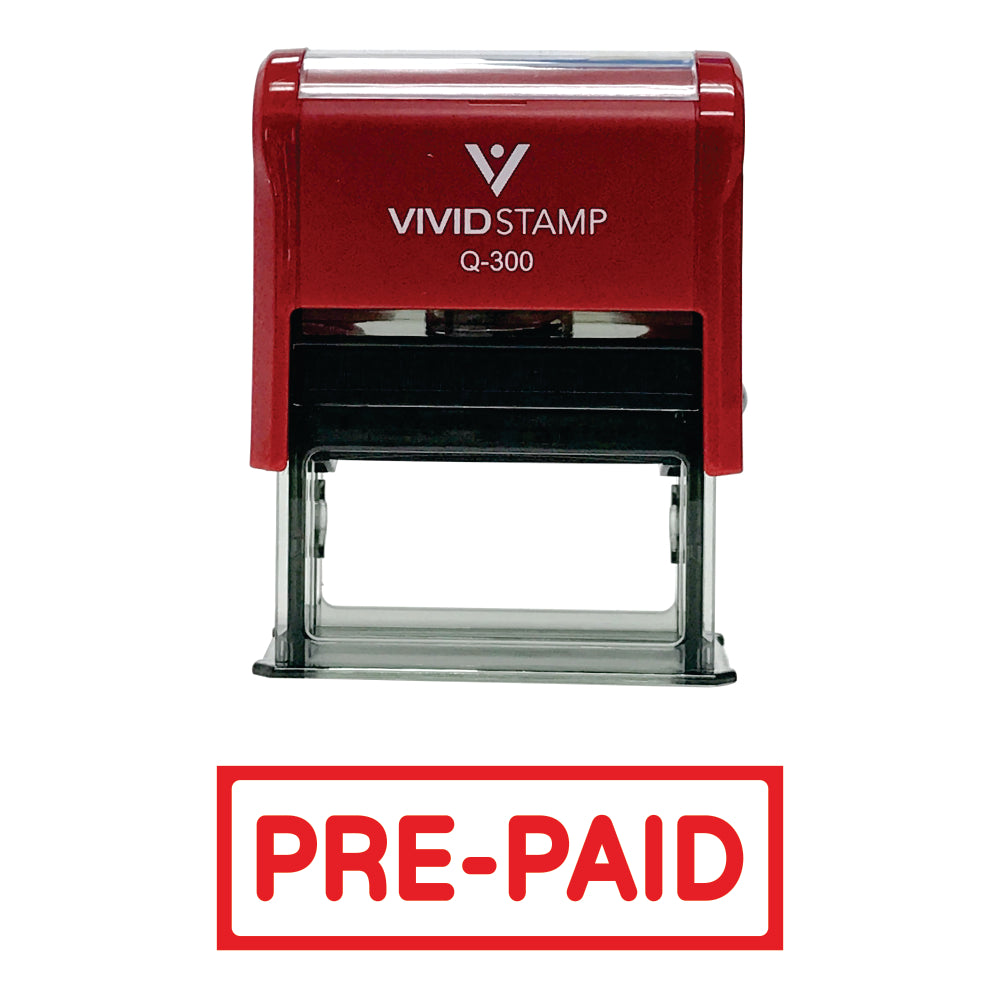 Pre-Paid Self-Inking Office Rubber Stamp
