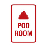 Portrait Round Poo Room Sign