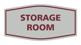 Light Gray / Burgundy Signs ByLITA Fancy Storage Room Sign