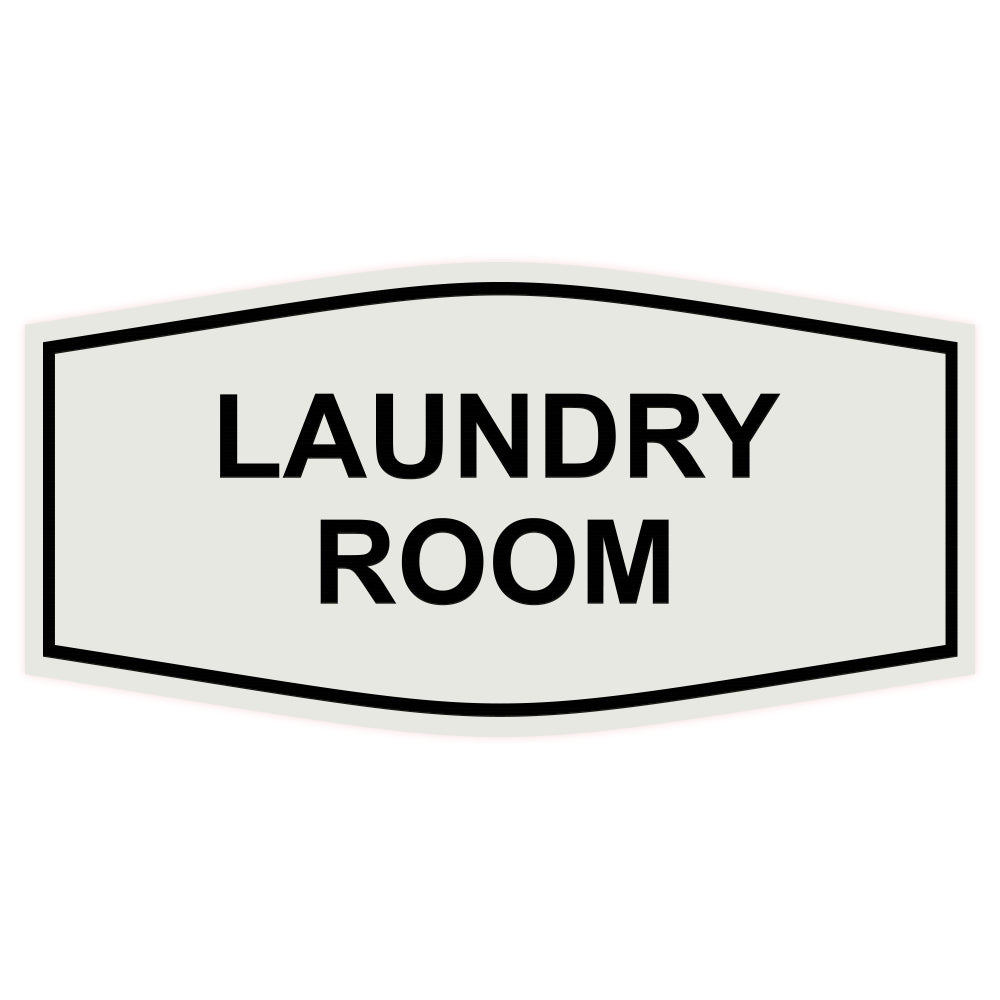 Light Grey / Black Fancy Laundry Room Sign