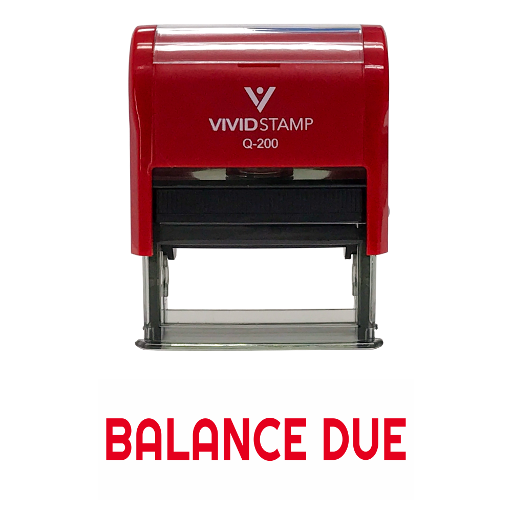 Balance Due Self Inking Rubber Stamp