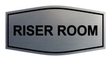 Brushed Silver Signs ByLITA Fancy Riser Room Sign