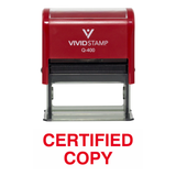 Certified Copy Self Inking Rubber Stamp