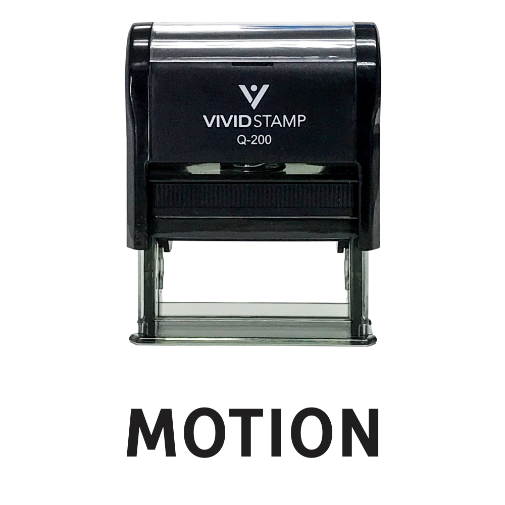 Motion Legal Self Inking Rubber Stamp