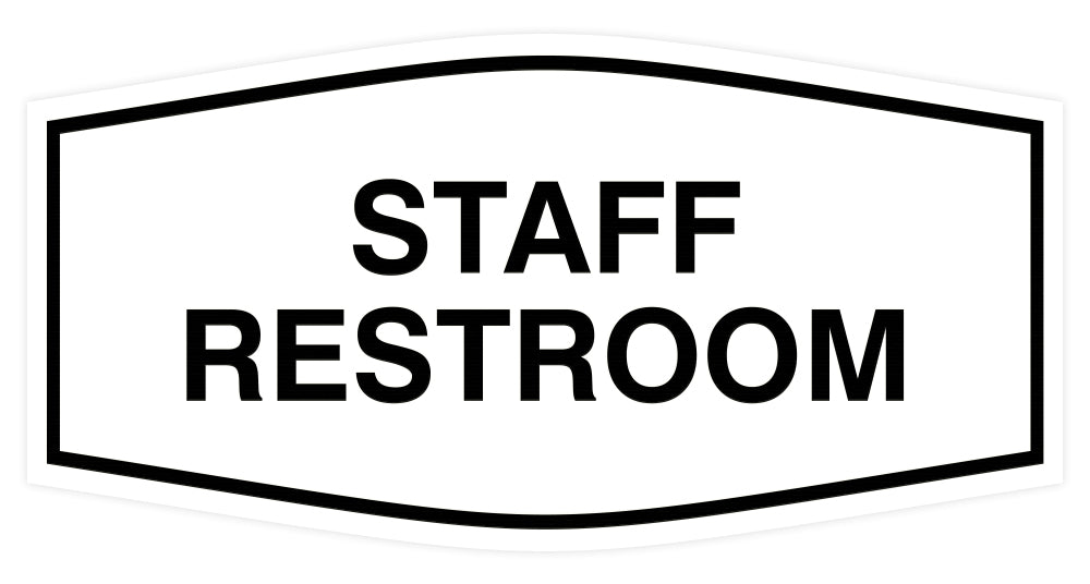 Signs ByLITA Fancy Staff Restroom Sign