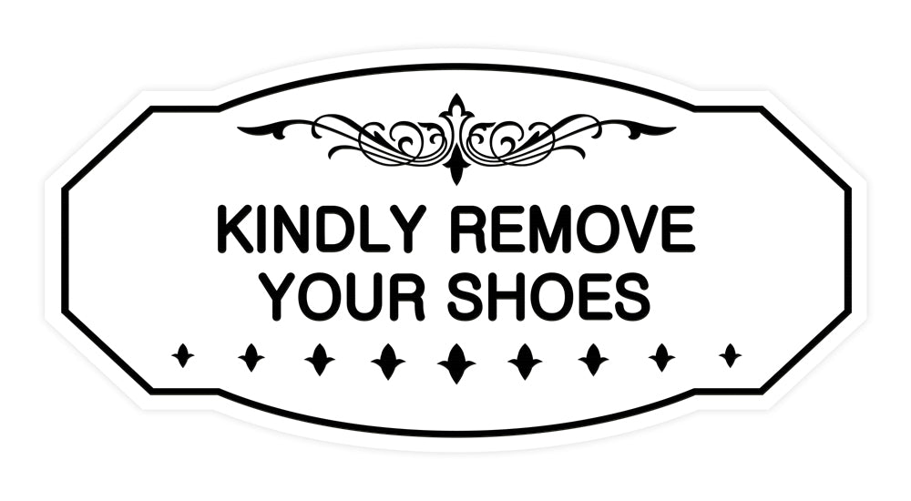 Victorian Kindly Remove Your Shoes Sign