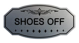 Victorian Shoes Off Sign