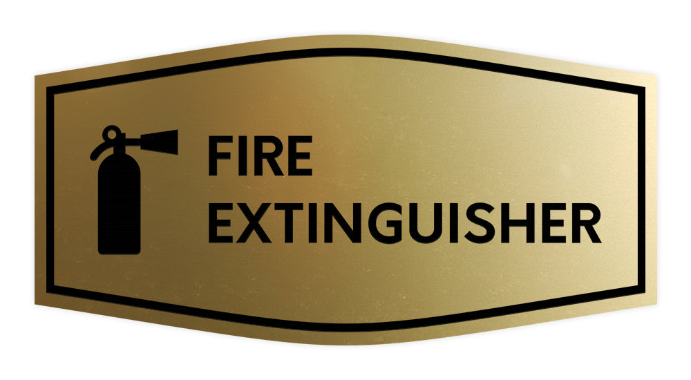 Signs ByLITA Fancy Fire Extinguisher Sign with Adhesive Tape, Mounts On Any Surface, Weather Resistant, Indoor/Outdoor Use