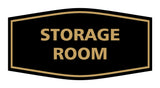 Black / Gold Signs ByLITA Fancy Storage Room Sign