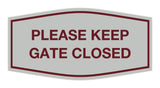 Signs ByLITA Fancy Please Keep Gate Closed Sign