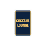 Portrait Round Cocktail Lounge Sign