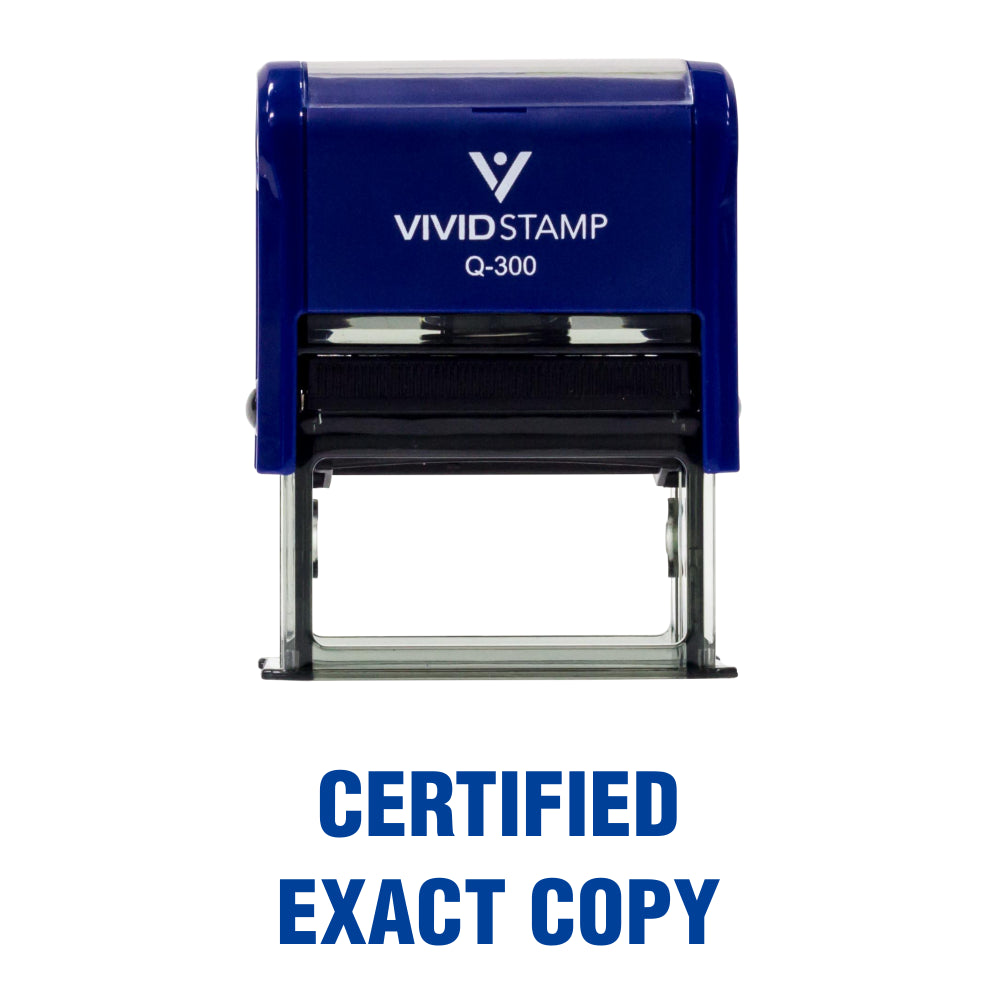 Certified Exact Copy Self Inking Rubber Stamp