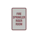 Portrait Round Fire Sprinkler Riser Room Sign