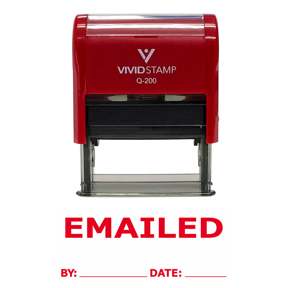 Emailed By Date Self Inking Rubber Stamp
