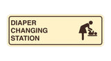 Ivory / Dark Brown Signs ByLITA Standard Diapers Changing Station Sign