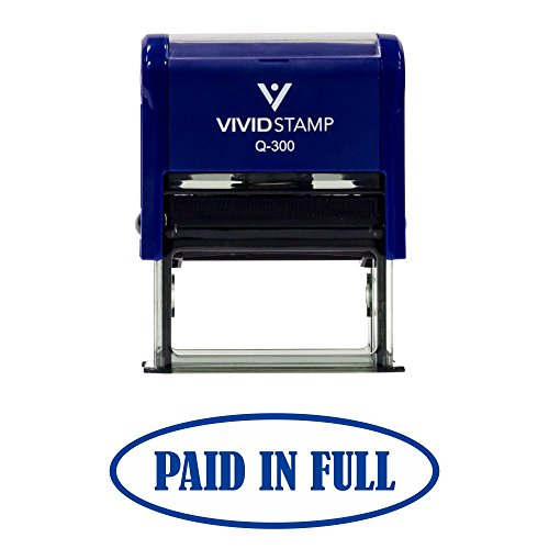 Paid In Full Self-Inking Office Rubber Stamp