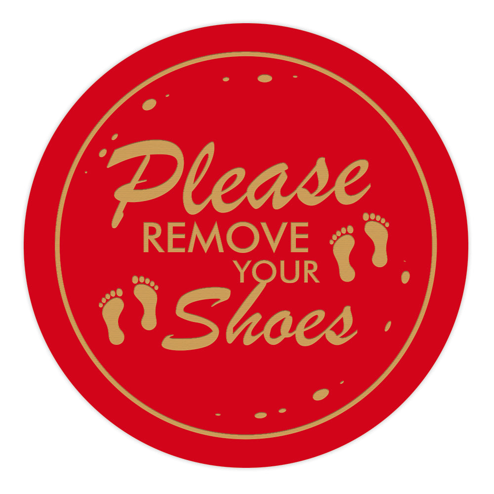 PLEASE REMOVE SHOES Circle Wall Door Sign