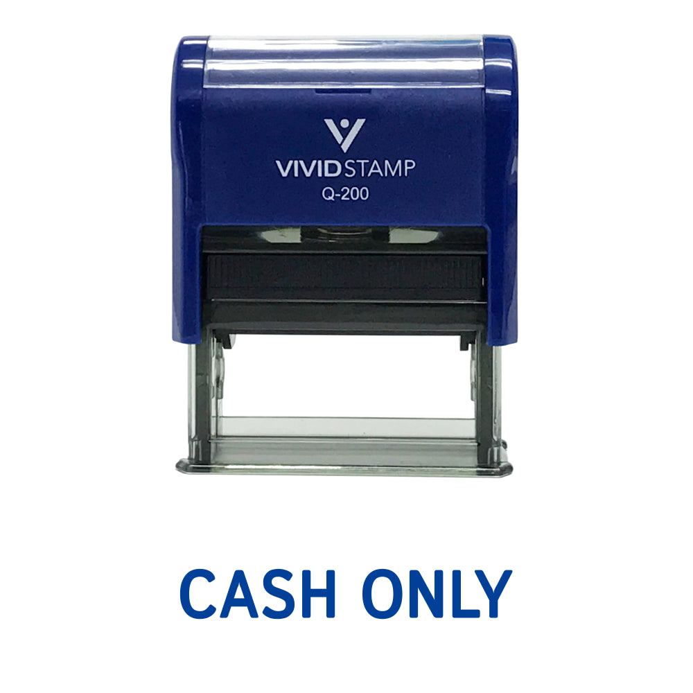 Cash Only Self Inking Rubber Stamp