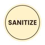 Signs ByLITA Circle Sanitize Sign